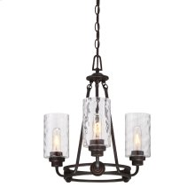 3 Light Chandelier in Old English Bronze