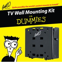Tilting mount for most small to medium size TVs including 8190DB Adapter Plates, For Dummies installation guide, and For Dummies step-by-step DVD video.