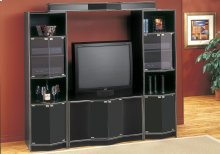 "TV STAND - BLACK HOME THEATER TV STAND / 36""TV"