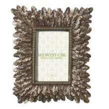 Large Champagne Feather 4X6 Frame.