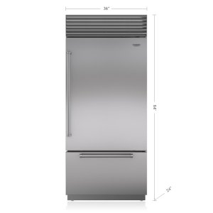 "Sub-Zero36"" Classic Over-and-Under Refrigerator/Freezer"