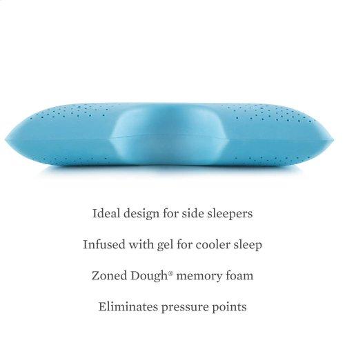 Zoned Gel Dough Shoulder Cutout Pillow, King