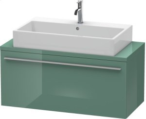 X-large Vanity Unit For Console Compact, Jade High Gloss Lacquer