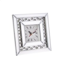 Square Mirrored/diamond Clock, 7.75""