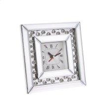 "Square Mirrored/diamond Clock, 7.75"""
