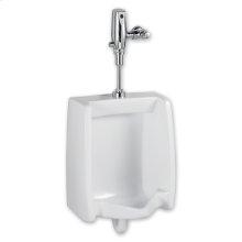 Washbrook 0.5 gpf Washout Top Spud Urinal & Automatic Battery Flush Valve - White