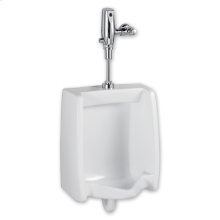 Washbrook 0.5 gpf Washout Top Spud Urinal & Automatic Battery Flush Valve - White