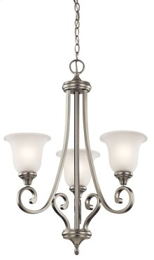 Monroe 3 Light Chandelier Brushed Nickel