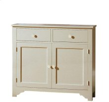 Splash Of Color Vestibule Cabinet Shores White finish