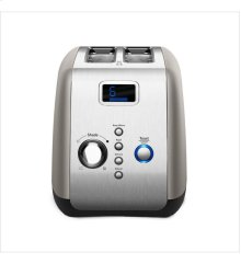 KitchenAid® 2-Slice Toaster with One-Touch Lift/Lower and Digital Display - Cocoa Silver