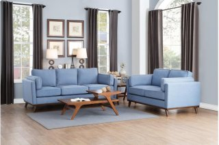 Bedos Love Seat Blue