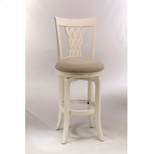 Embassy Swivel Counter Stool - White/ecru