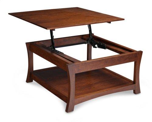 "Loft Square Coffee Table, Lift Top, 36""x36"""