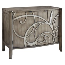 Veranda 2 Door Cabinet with Raised Scroll Detail