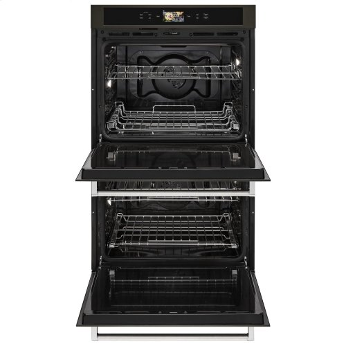 "Smart Oven+ 30"" Double Oven with Powered Attachments and PrintShield Finish - Black Stainless Steel with PrintShield™ Finish"