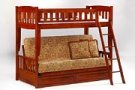 Cinnamon Futon Bunk in Cherry Finish* Product Image