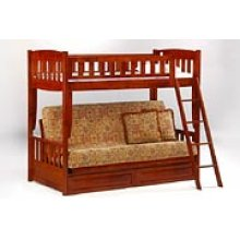 Cinnamon Futon Bunk in Cherry Finish