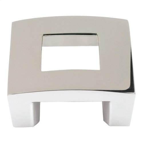 Centinel Square Knob 1 1/4 Inch (c-c) - Polished Nickel