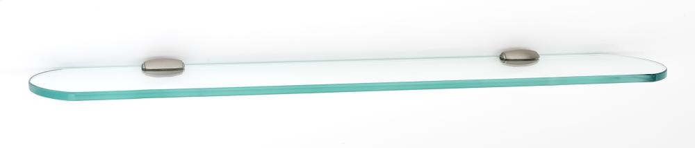 Royale Glass Shelf A6650-24 - Satin Nickel