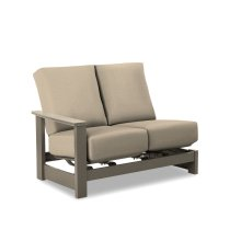 Leeward MGP Cushion Right Arm Two-Seat Hidden Motion Sectional