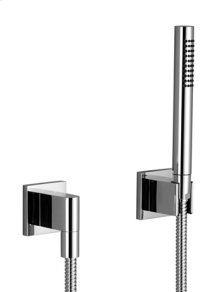 Hand shower set with individual flanges - matt black
