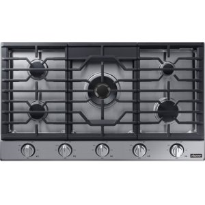 "DacorTransitional 36"" Gas Cooktop, Graphite Stainless Steel, Natural Gas/Liquid Propane"