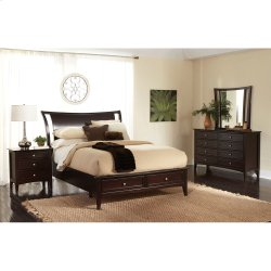 Queen Low Profile Footboard with Drawers Product Image