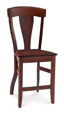 "Brookfield Stationary Barstool, 24"" Seat Height"
