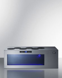 Commercially Approved Open Bottle Wine & Champagne Cooler In Stainless Steel With Digital Controls and Compressor-cooled Design for Countertop Use