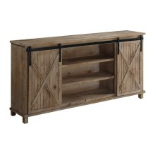 La Salle Wood 2 Sliding Door Media Console