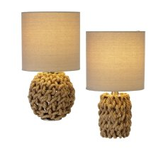 Rope Wrapped Accent Lamp. 40W Max. (2 pc. ppk.)