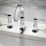 American StandardBerwick Widespread Bathroom Faucet with Lever Handles - Polished Chrome