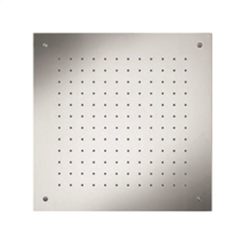 "recessed, square shower head 19 1/2""x19 1/2"""