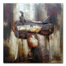 Saddle Up I 40x40 Metal Art