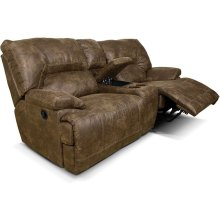 EZ Motion EZ136 Double Reclining Loveseat Console EZ13685