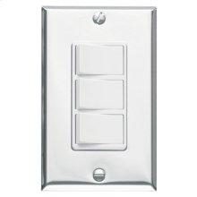 3-Function Control, Polished Chrome, White Controls, 15 amp. 120V