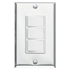 3-Function Control, Polished Chrome, White Controls, 15 amp. 120V