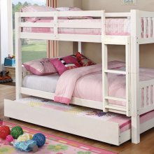 Cameron Full/full Bunk Bed, White