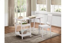 Writing Desk and Chair, White