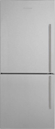 "30"" Bottom Freezer/Fridge 18 cu ft, wrapped stainless doors, stainless handles, left hinge"