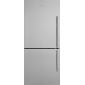 "Blomberg Appliances30"" Bottom Freezer/Fridge 18 cu ft, wrapped stainless doors, stainless handles, left hinge"