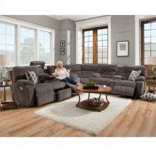 Power Reclining/Power Headrest Sofa w/Drop Down Table, Lights, Drawer & USB