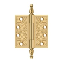 """4""""x 4"""" Square Hinges - PVD Polished Brass"""