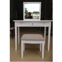 White Vanity and Bench