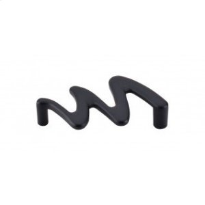 Squiggly Pull 3 3/4 Inch (c-c) - Flat Black