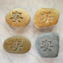 Kanji Hanji Character Pebbles Tranquility