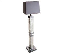 Montreal Slendr Tbl Flr Lamp w/Crstl Accnt & Rect Shade, Violet
