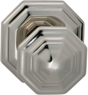 Interior Traditional Knob Latchset in (US14 Polished Nickel Plated, Lacquered)