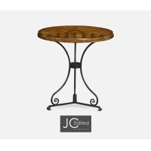 Country Walnut Style Parquet Table