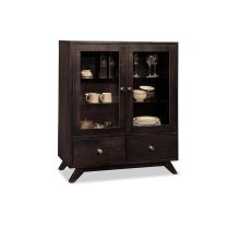 Tribeca Display Cabinet with 2/Glass Doors & 2/Drawers & 2/Glass Adjust Shelf